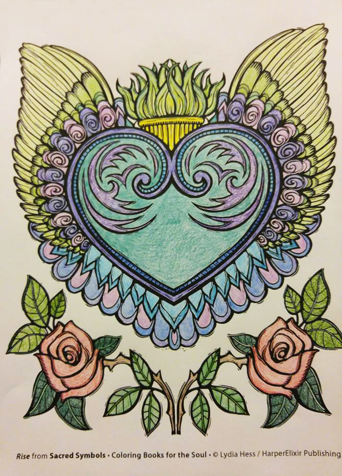 Sacred Symbols - A Coloring book for Adults