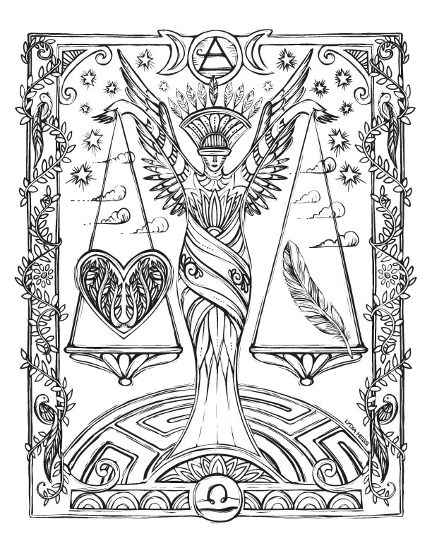 - Sacred Heavens Zodiac Coloring Book — Lydia Hess Illustration & Design
