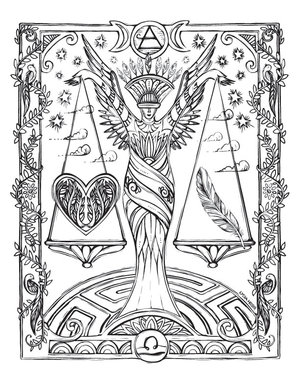 Sacred Heavens Zodiac Coloring Book Lydia Hess Illustration Design