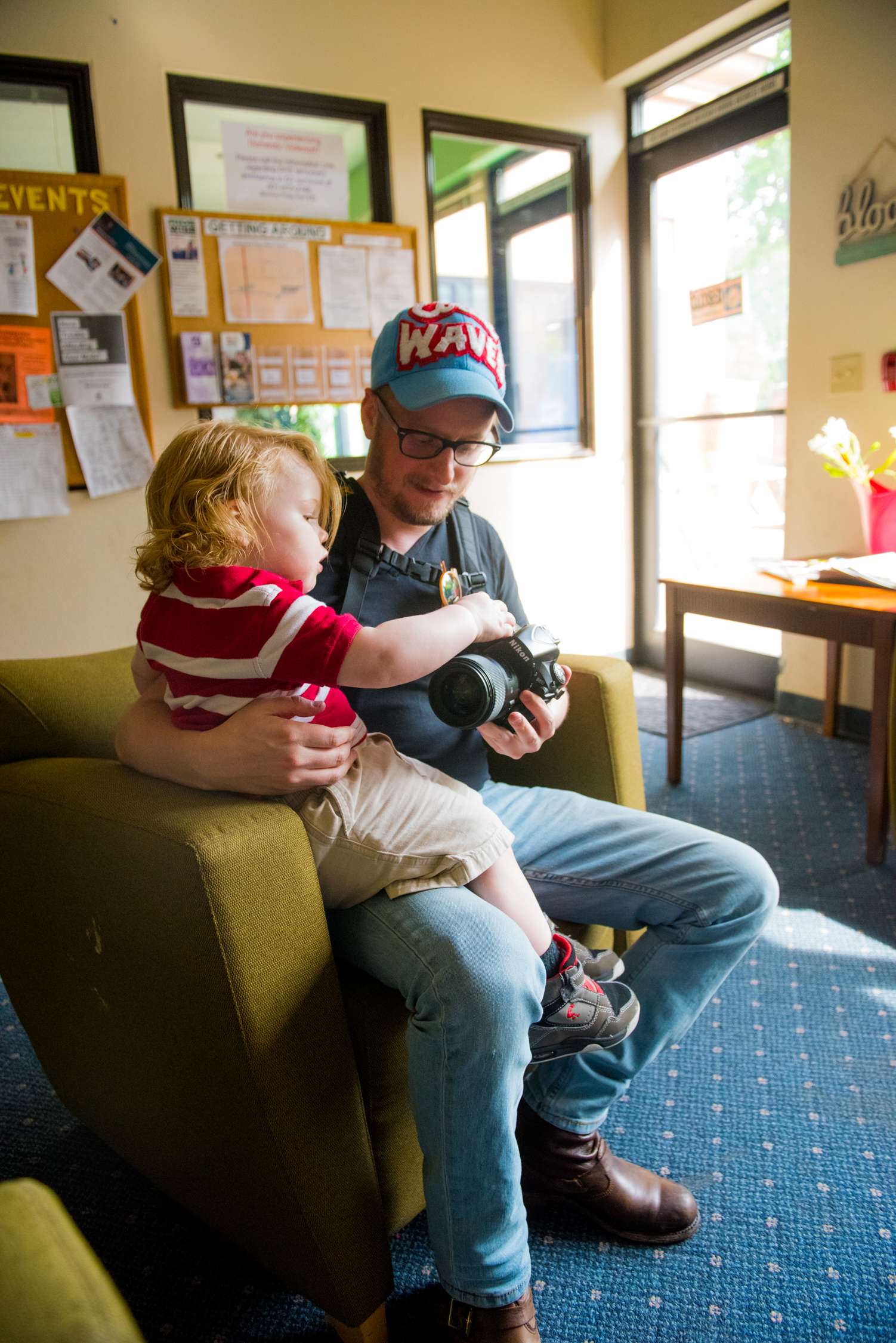Photographer Gregory Nolan at Impact NW's Transitional  Housing Facility.
