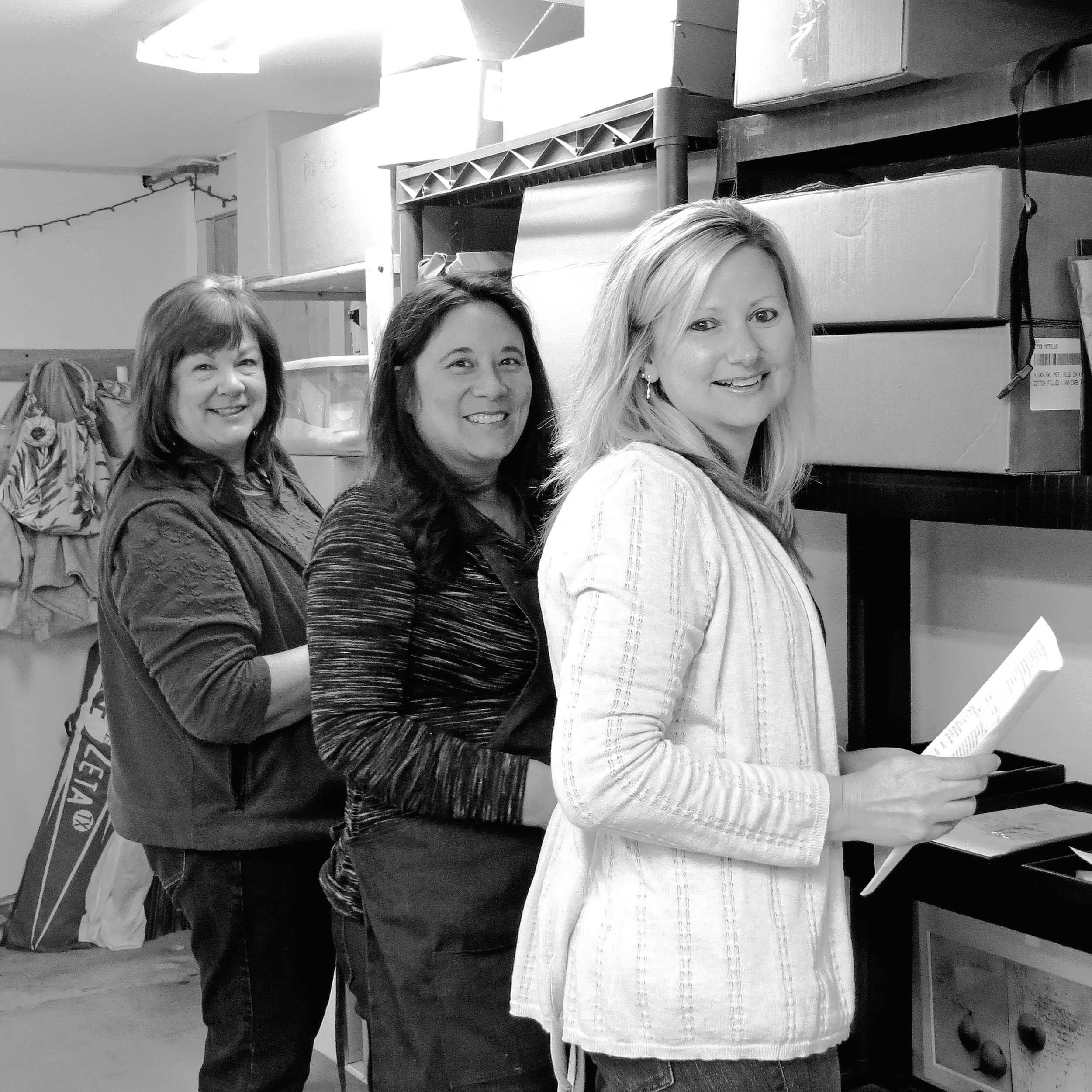 Betsy owes much of her success to her team.  Jo-Ann, Kim and Donna (left to right).