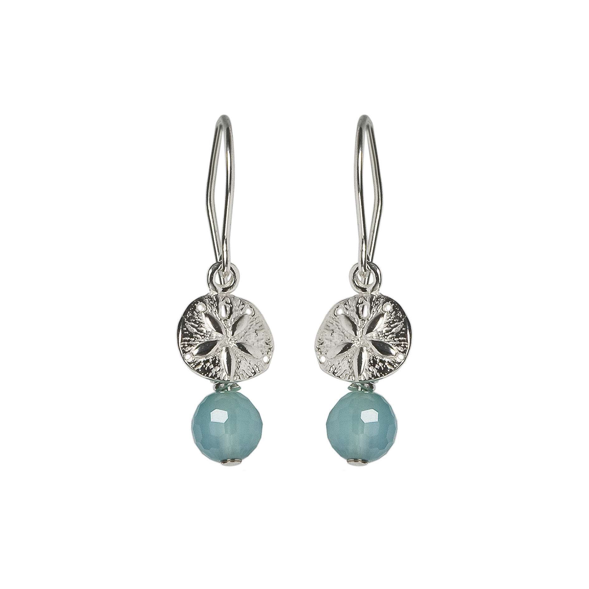 SAND DOLLAR EARRING WITH STONE