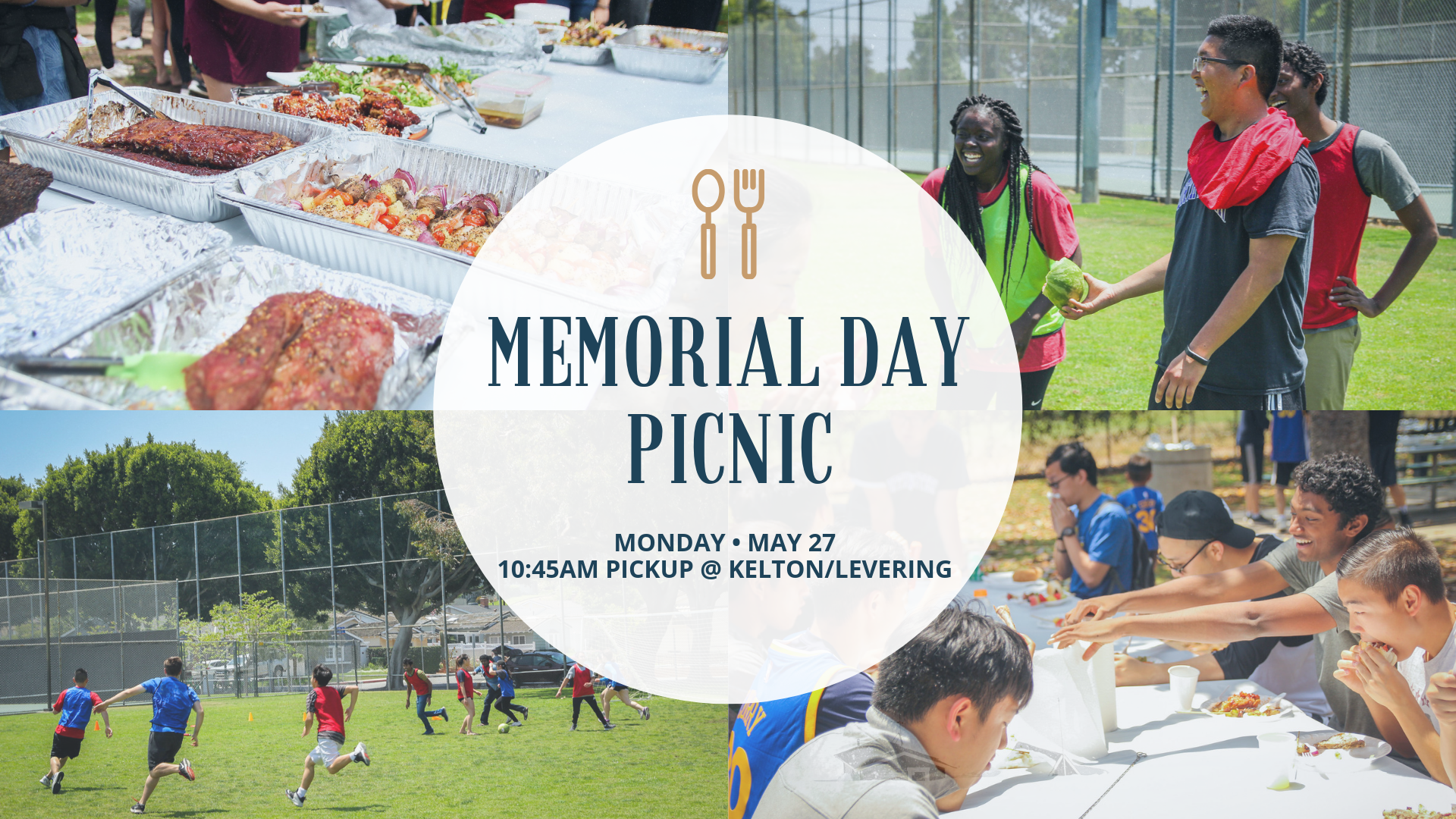 Join us this  Monday, May 27th  for our Memorial Day Picnic. There's going to be great food and a lot of fun! Rides will be at  10:45 @ Kelton & Levering .