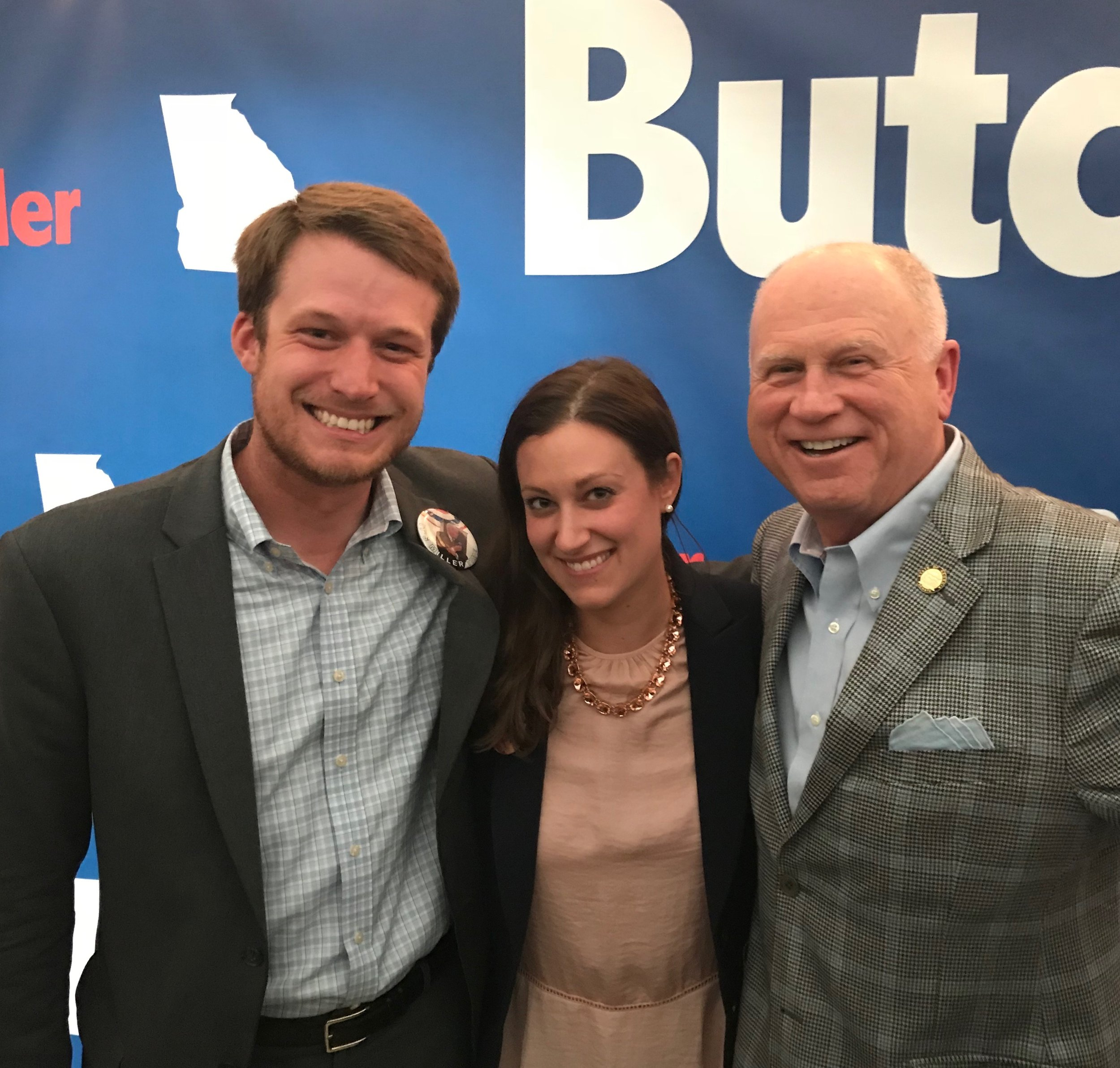 TJ Kaplan and Lauren Pollow attend an event honoring Senate president pro tempore butch Miller (R-Gainesville)