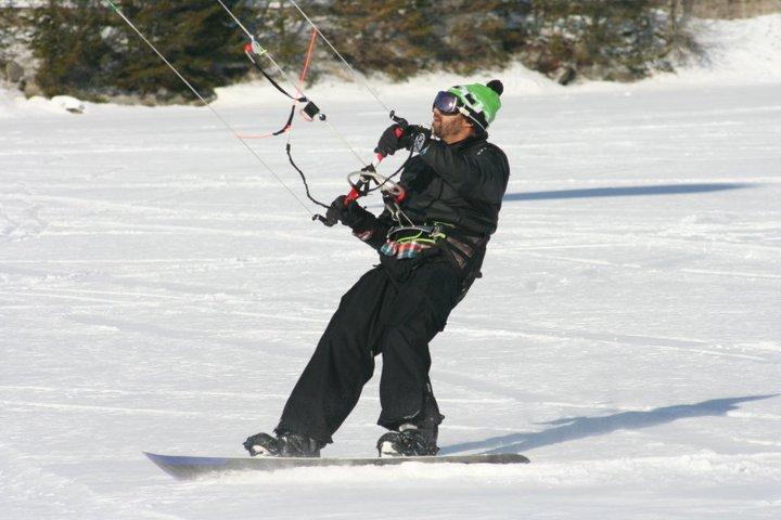 Snow Kiting Green Lake Whistler