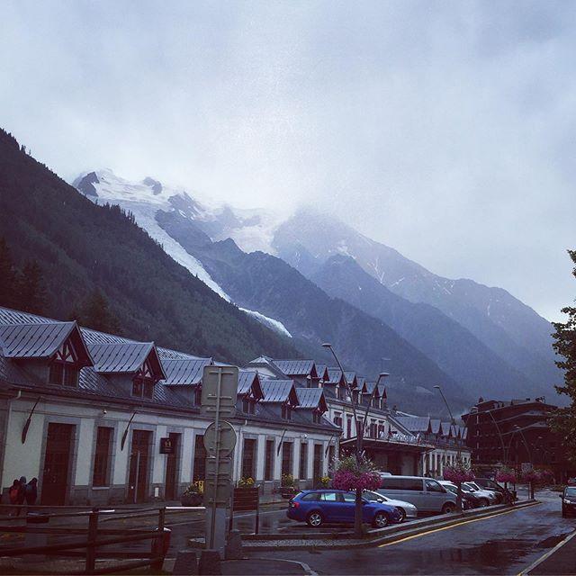 Rainy day over #montblanc