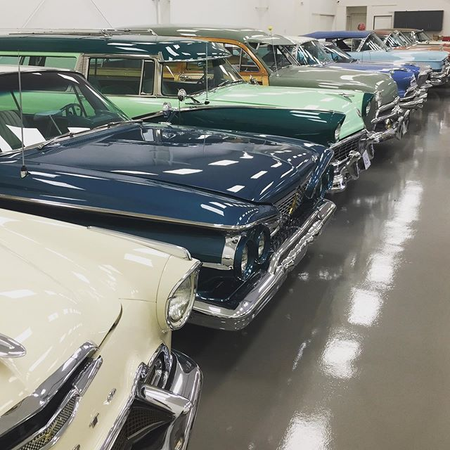 Beautiful private collection of cars.