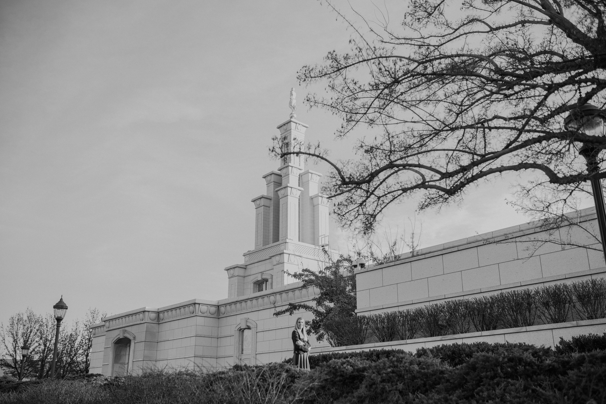 Columbia River Temple Black and White Missionary Photos in Richland Washington
