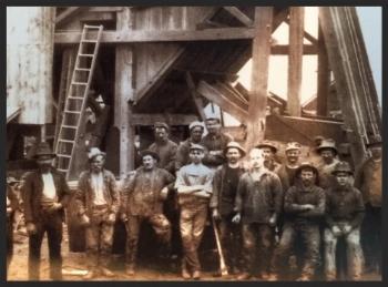 Gold Rush miners circa 1890