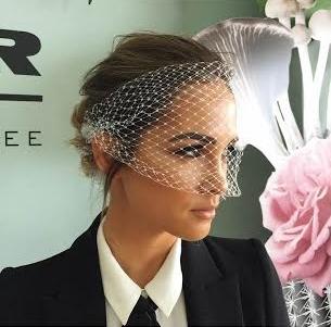 Lauren's pick of the day for best head piece was Aisha Jade's veil.