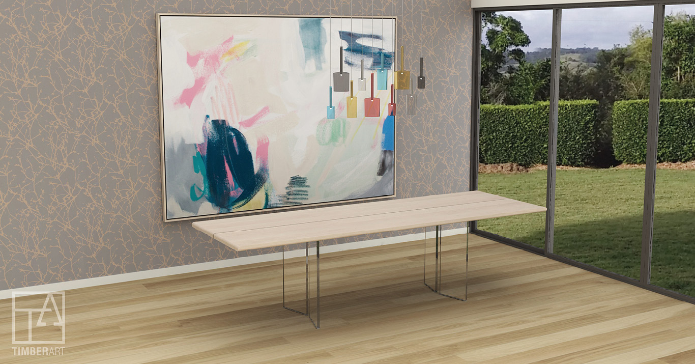 Copy of CRYSTALLI SOSPESO - Luxe Refectory Dining Table