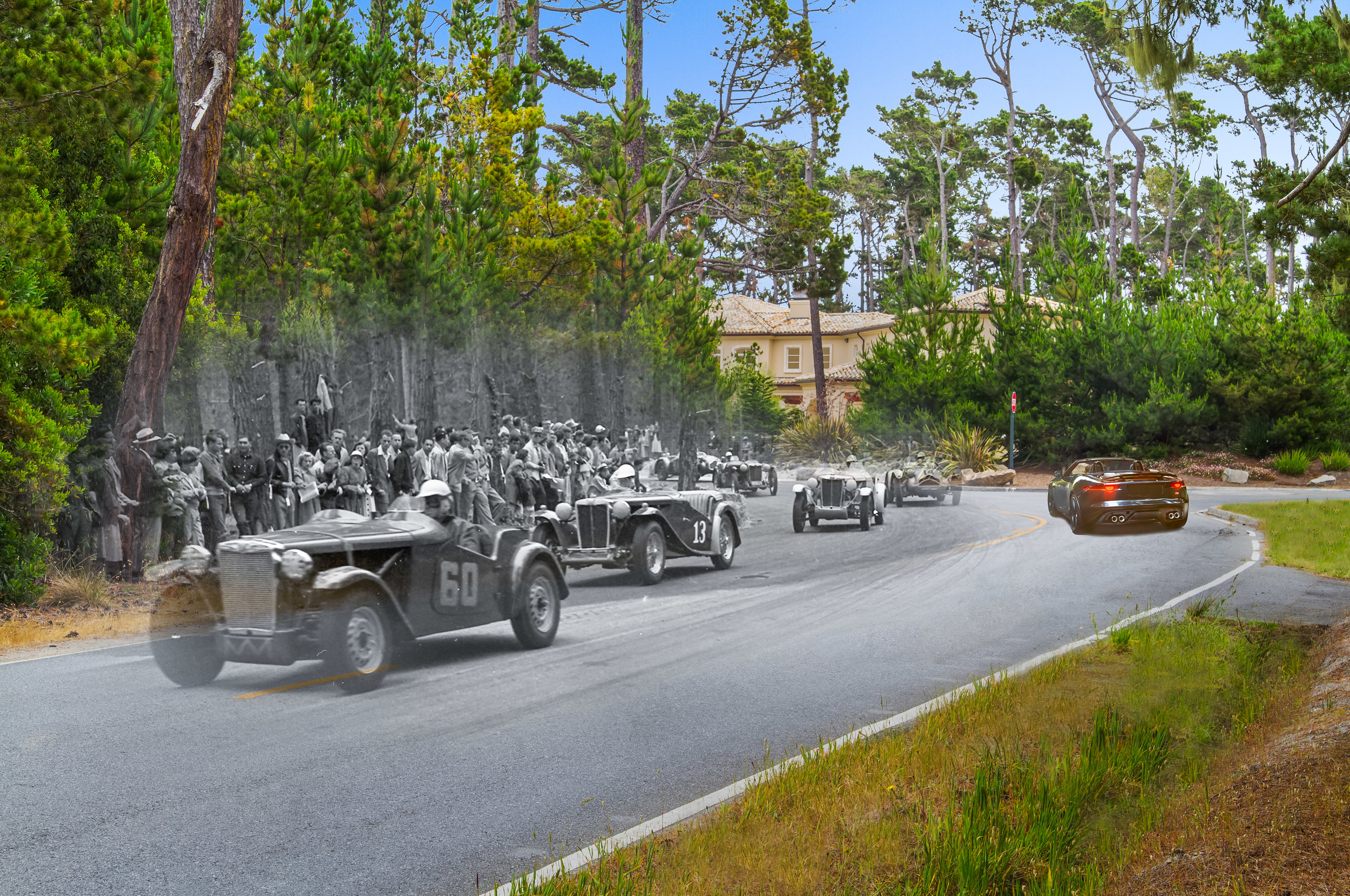 Pebble Beach and the historic road races that took place there.