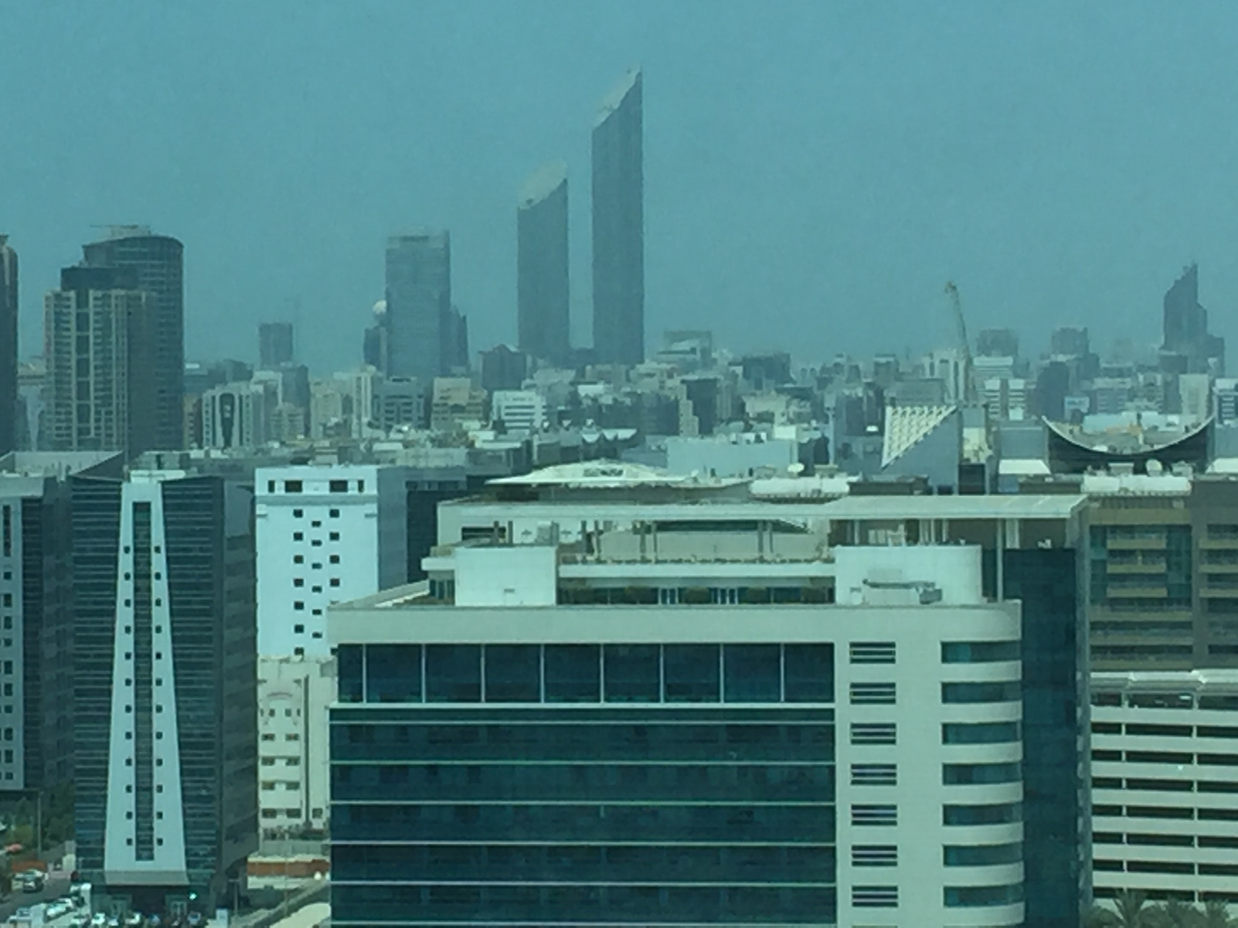 The view of Abu Dhabi from the 15th floor of IPIC Tower