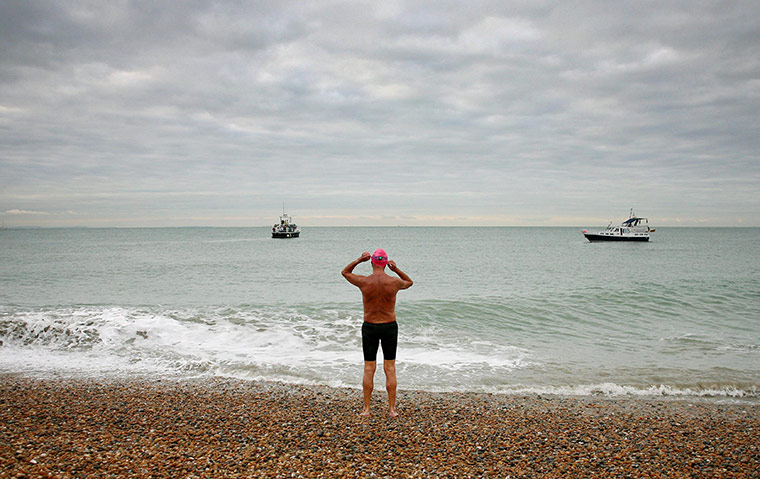 "Shakespeare Beach: ""the loneliest place in endurance sport"" (Quote:  Cliff Golding ) (Photo: Gareth Fuller/PA)"