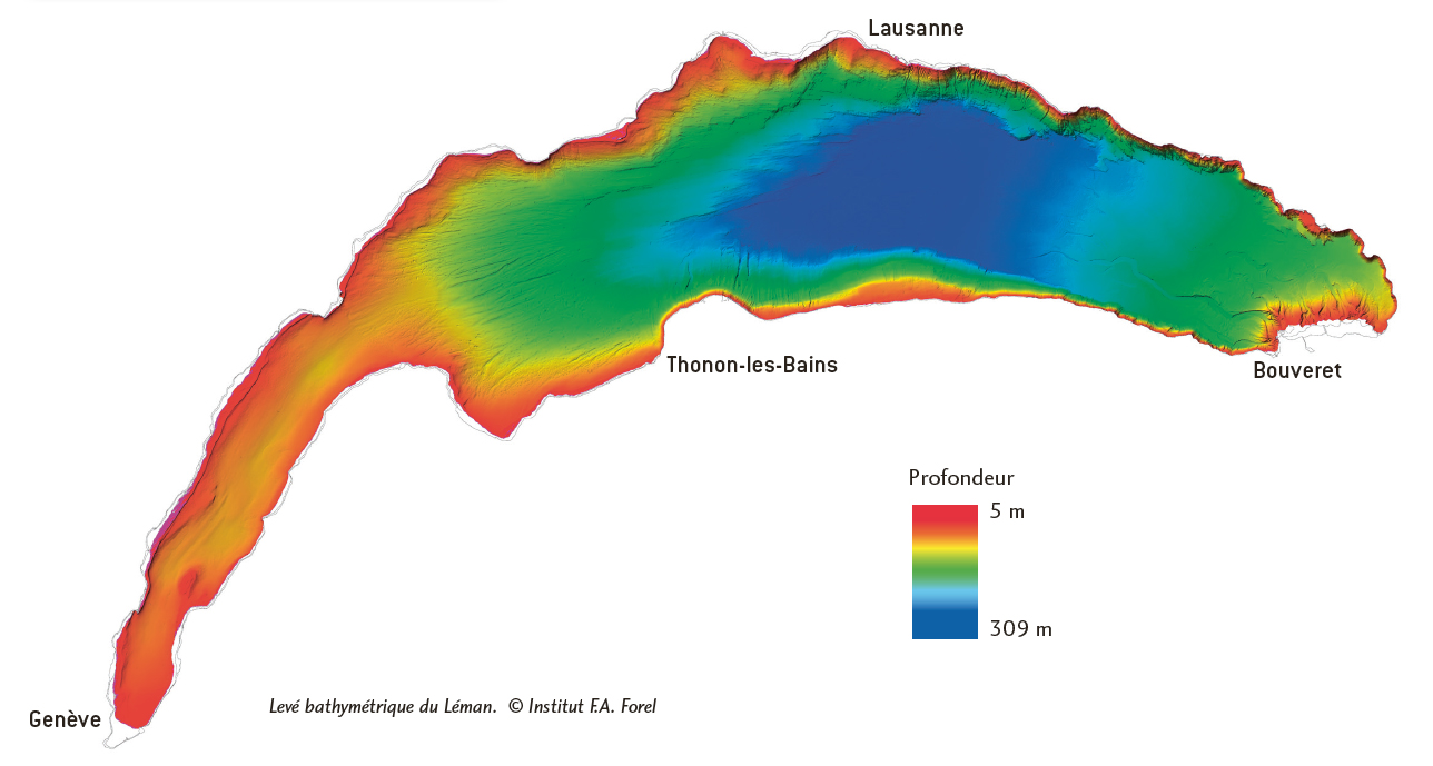 Lake Geneva (Map: Institut F.A. Forel)