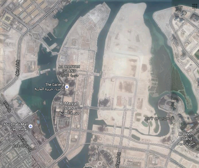 Al Maryah Island, Abu Dhabi (Photo: Google Maps)