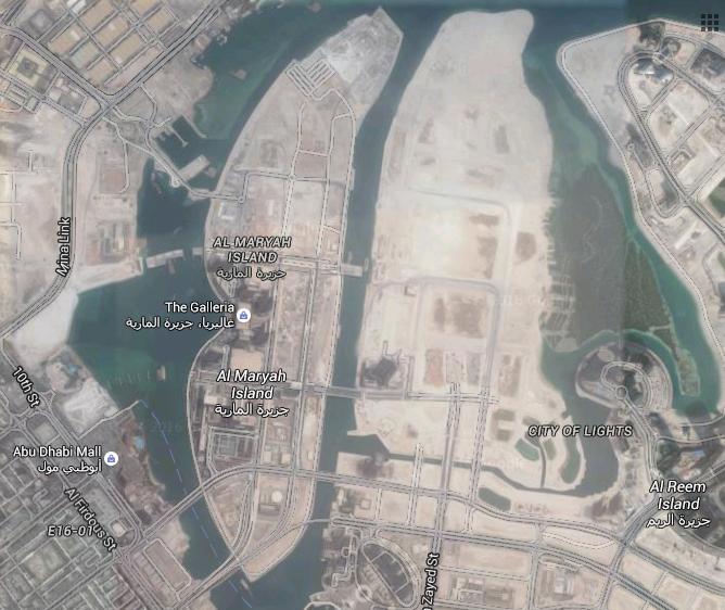 Al Maryah Island, Abu Dhabi (Photo: Google Maps)