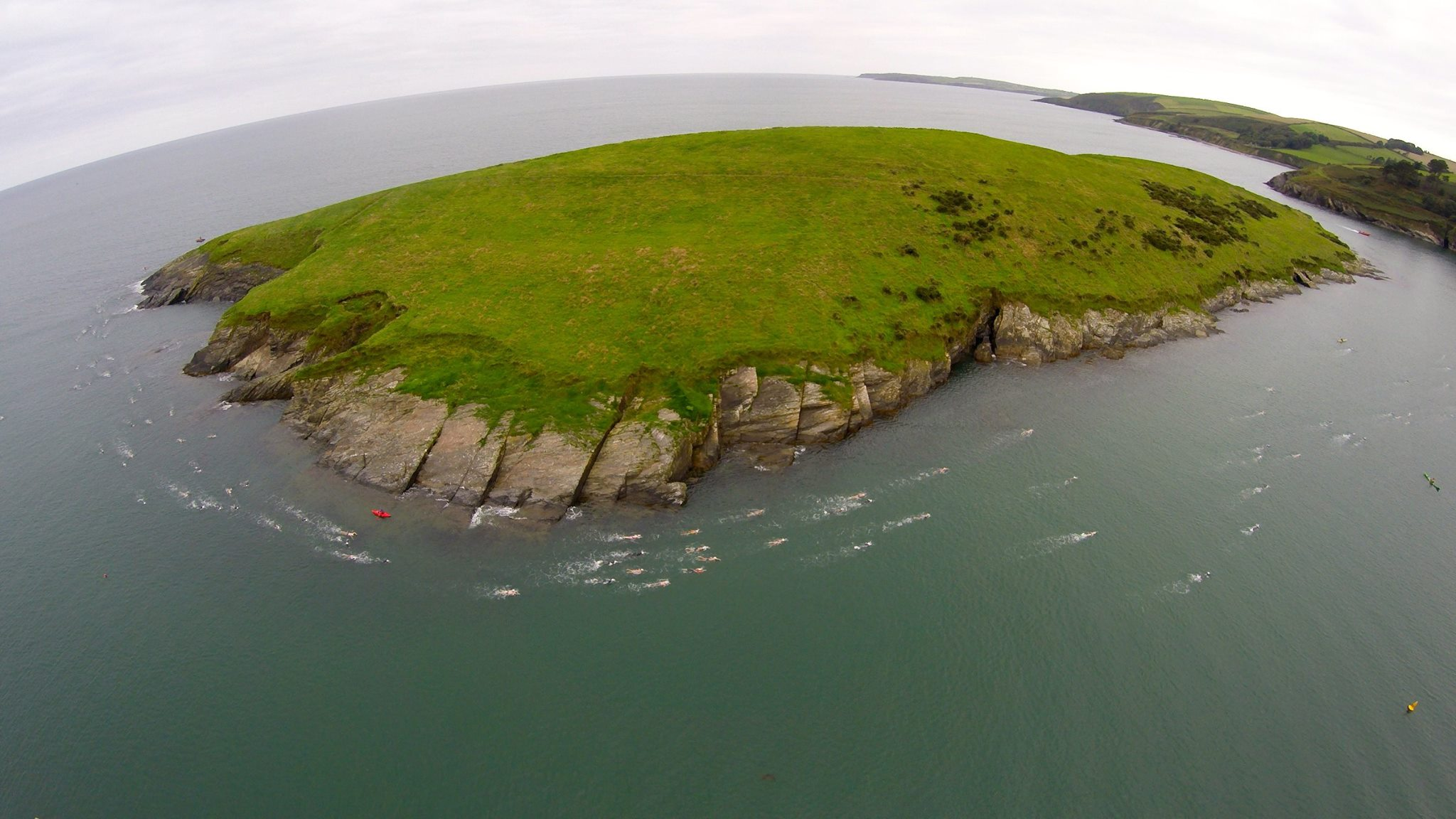 Swimming Sandycove Island (Photo:  Nomadic Quadcopter )