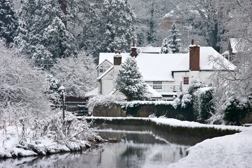 Along the stream in the snow.jpg