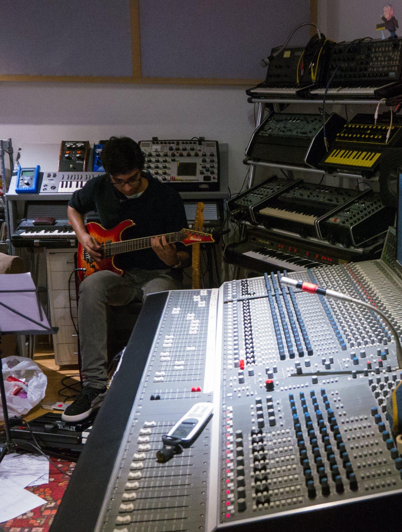At work @ Press Play Studios, Bermondsey