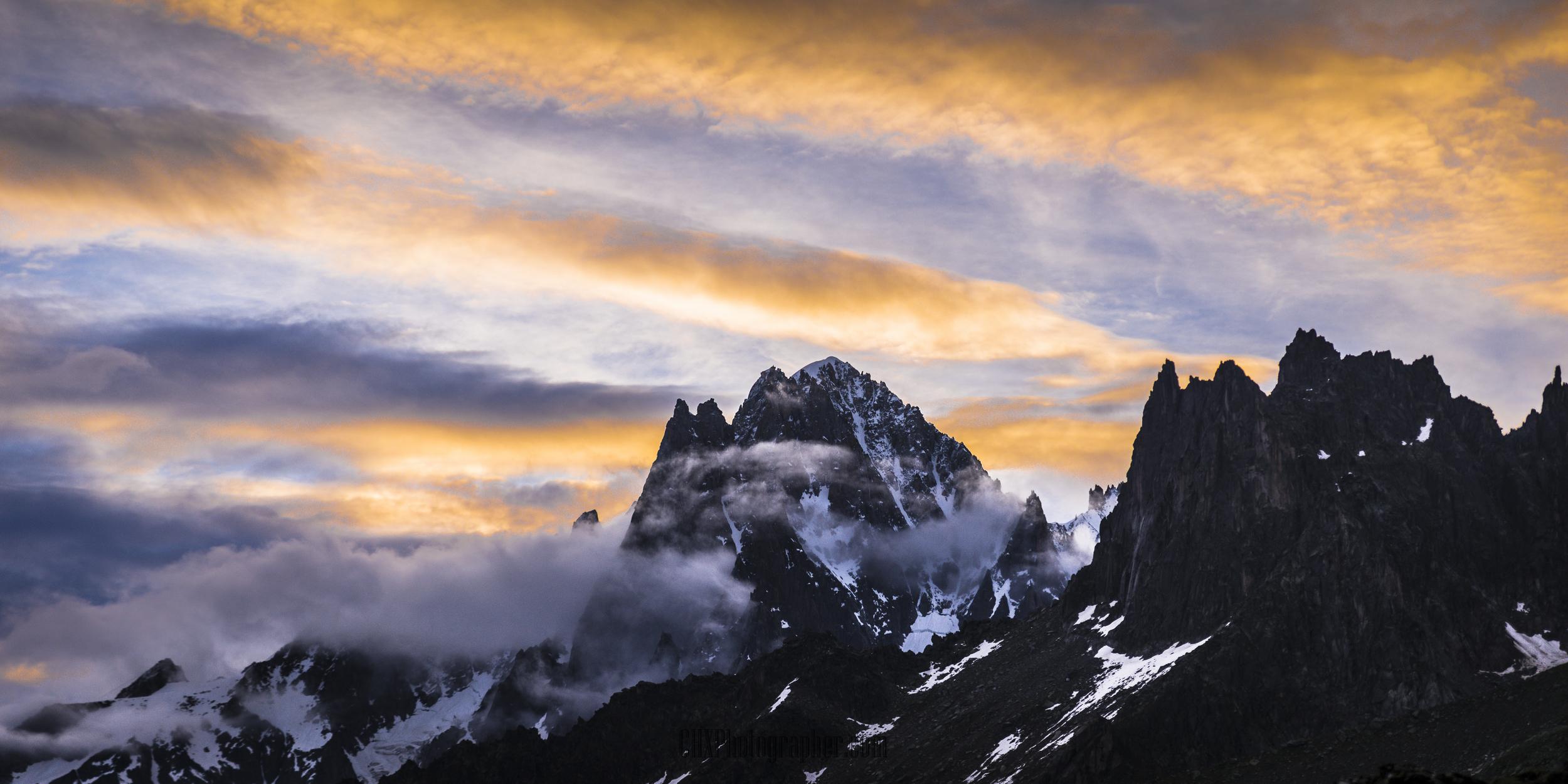 The Aiguille Verte in Chamonix, France