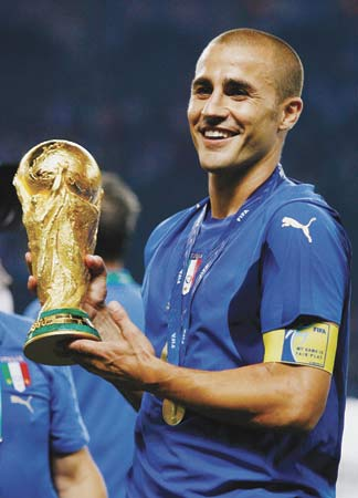 FIFA World Player of the Year 2006 & World Cup winner:Fabio Cannavaro