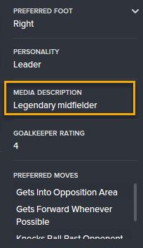Marco's media description in 2032: 'Legendary Midfielder'