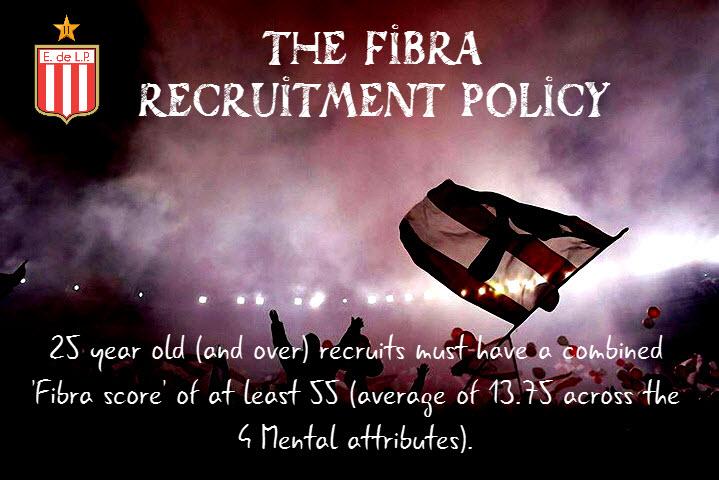 The Fibra Recruitment Policy for FM18.