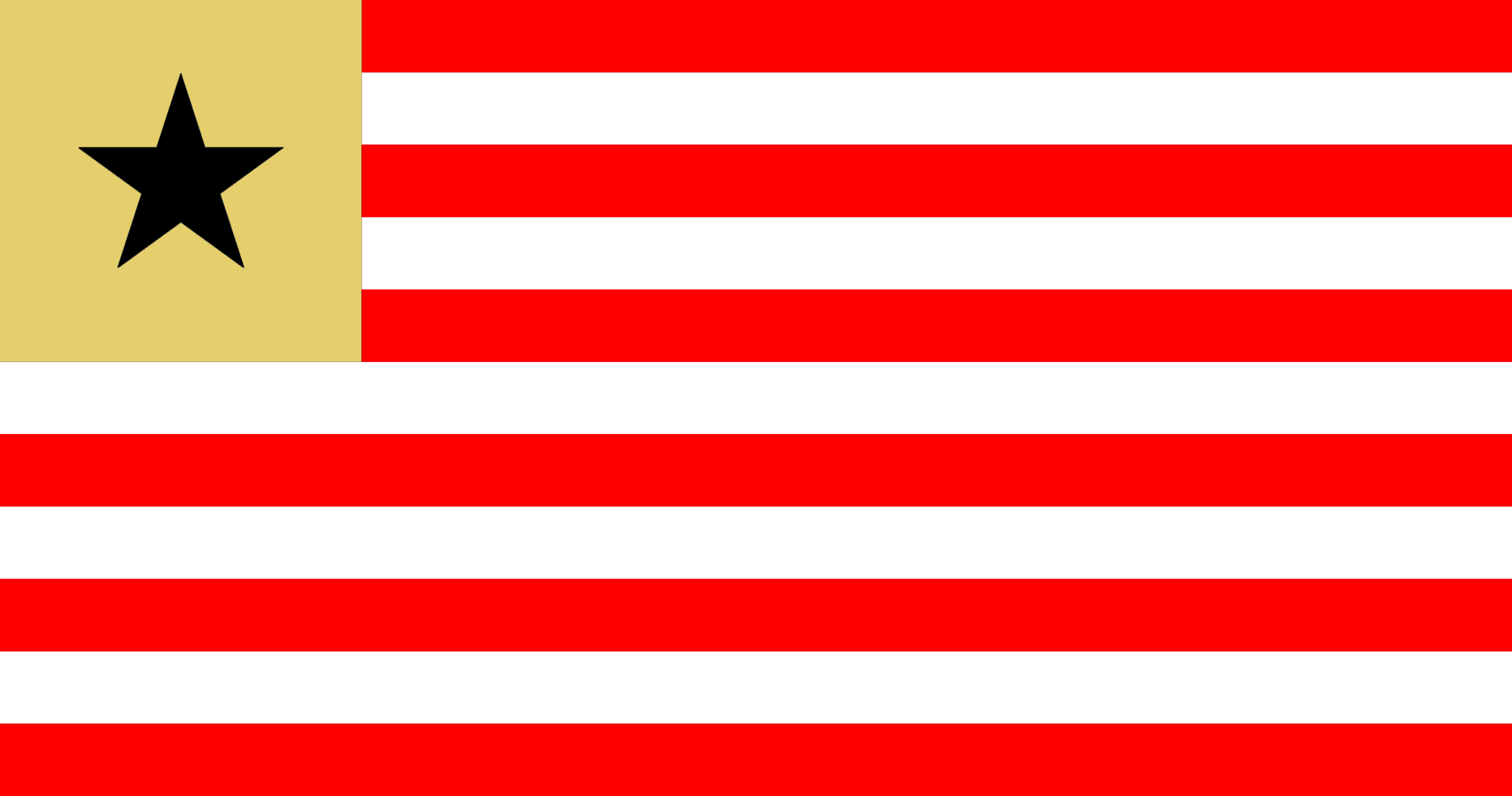 Bastardo quickly needed a flag for the new Democratic Republic of La Plata. So he mocked up Liberia's current flag and changed the colours to replicate Estudiantes de La Plata's club logo. Et voilà !