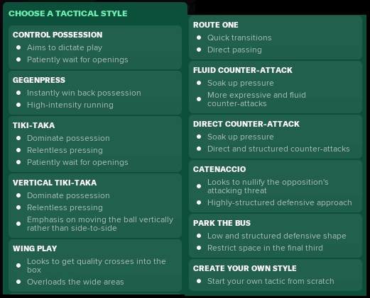 FM19 tactical styles.