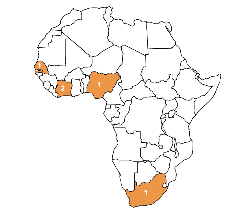 Countries recruited from so far: Côte d'Ivoire, Nigeria, Senegal & South Africa.