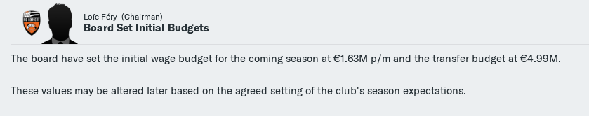 Despite the net spend, Achilles Goss was offered just under €5m for transfers in 2022/23.