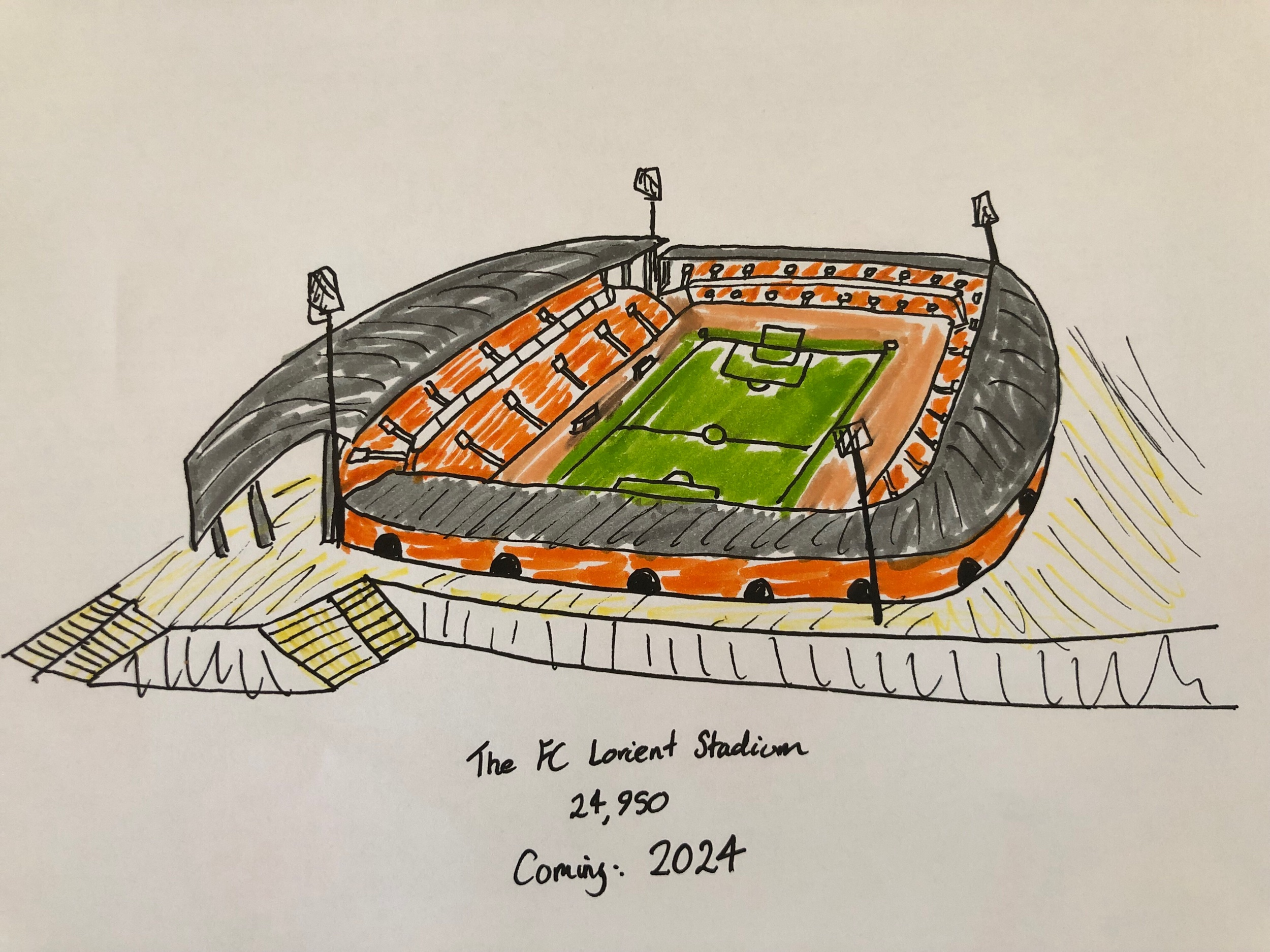 An Artist's impression of the 25,000 capacity 'FC Lorient Stadium'.