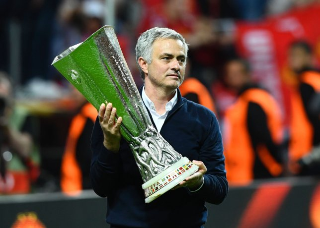 Mourinho the victor against Goss in the Europa League Final.