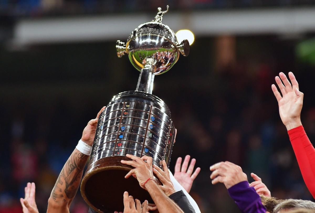 The Copa Libertadores trophy.
