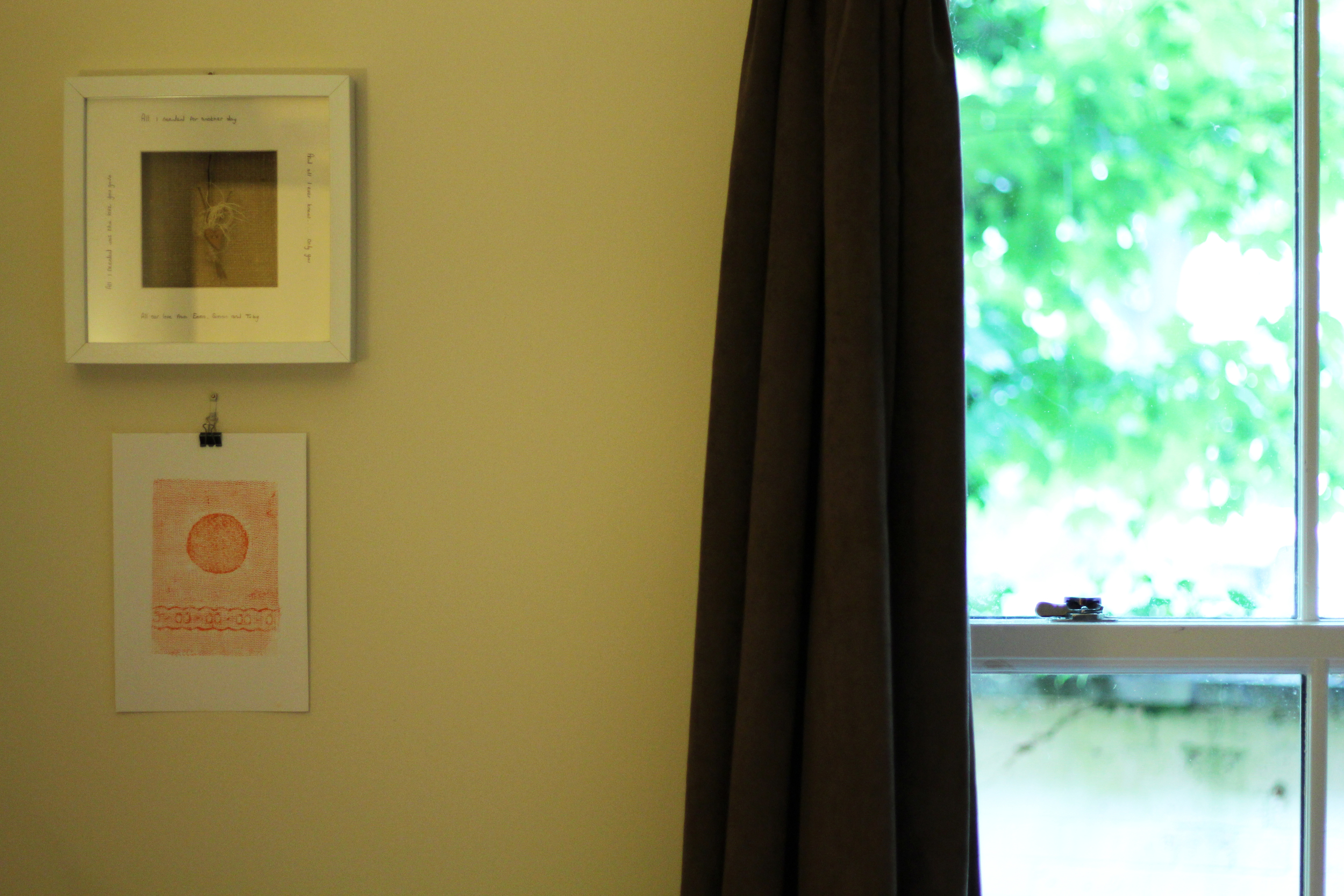 Steve's print has pride of place in our bedroom...