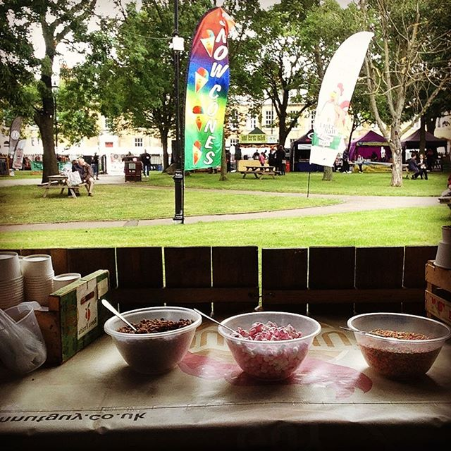 About to cook up a storm at #Properfoodfest #NorthShields #properfood #food #doughnuts
