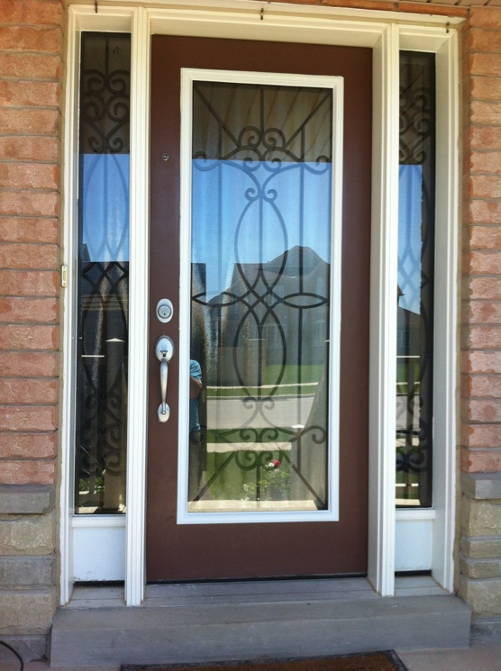 Blackburn-Wrought-Iron-Glass-Door-inserts-Brampton-Ontario