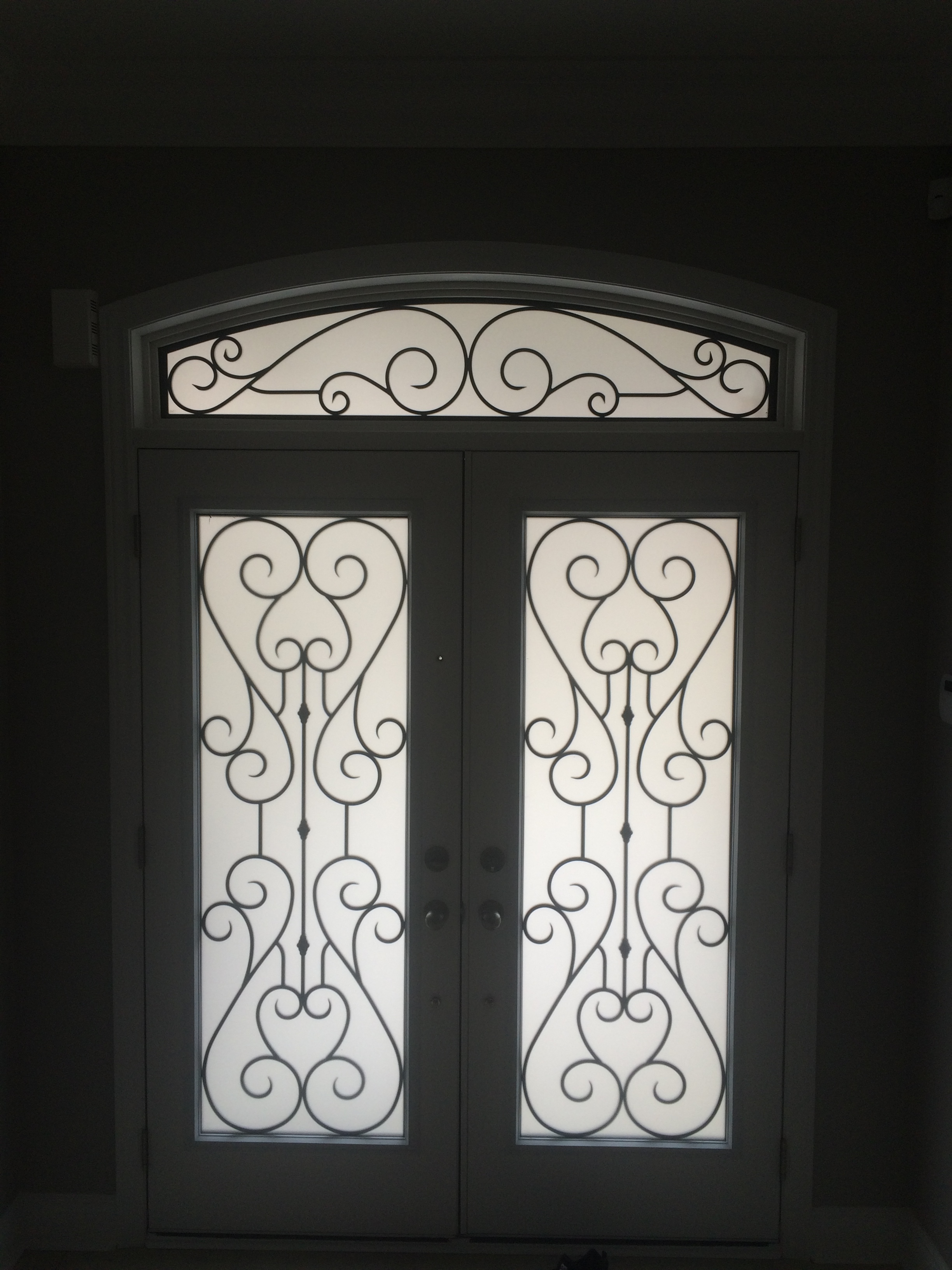Bridgeport-Wrought-Iron-Glass-Door-Inserts-Newmarket-Ontario