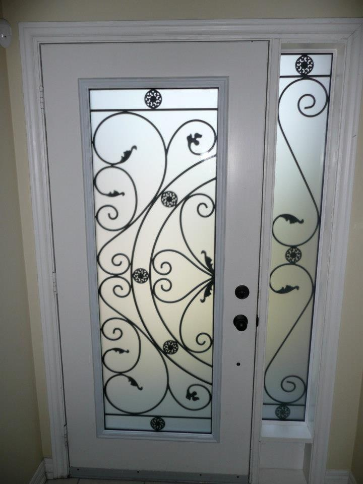 Campbellsford-Wrought-Iron-Glass-Door-Inserts-Milton-Ontario