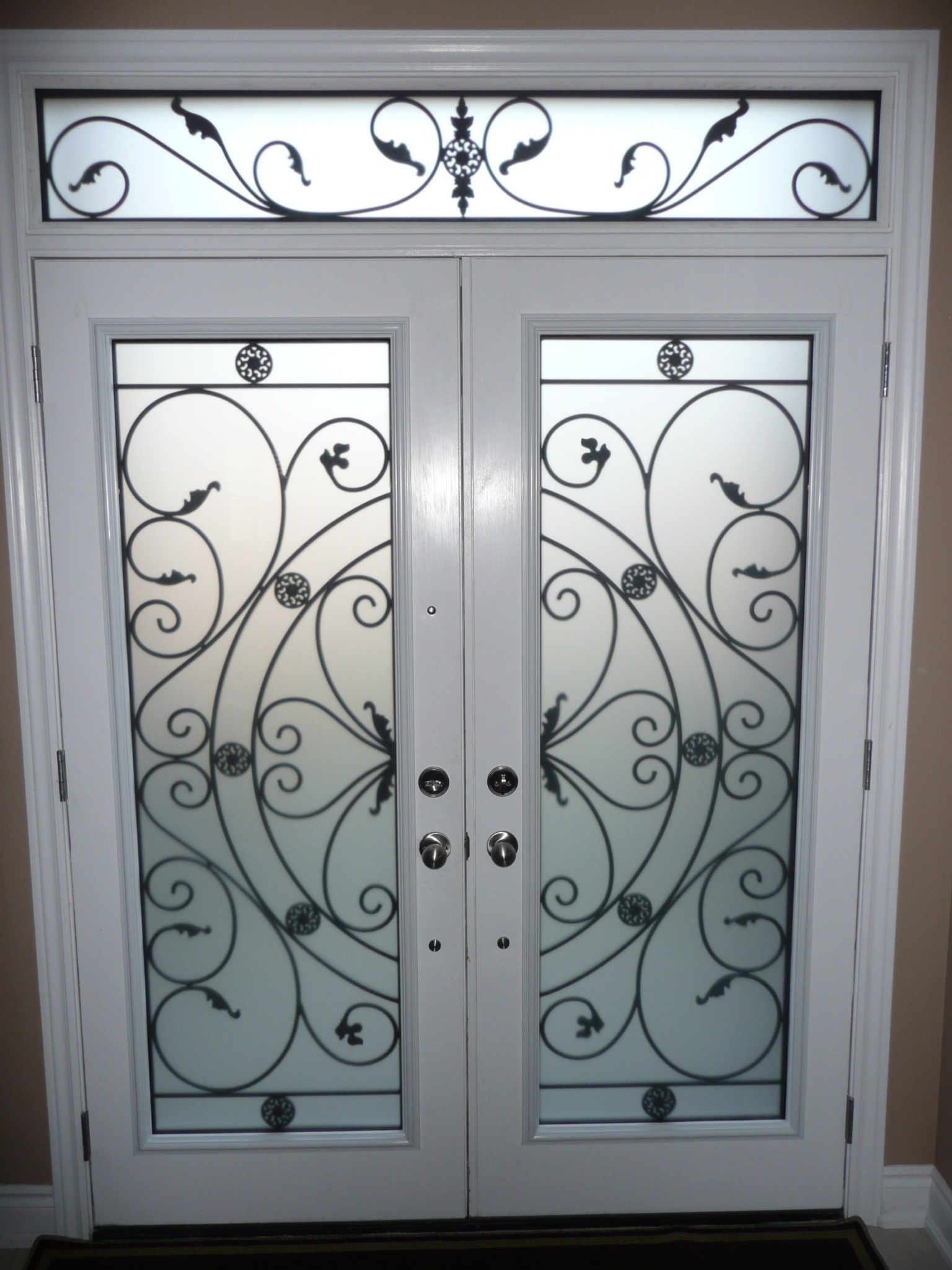 Campbellsford-Wrought-Iron-Glass-Door-Inserts-Brampton-Ontario