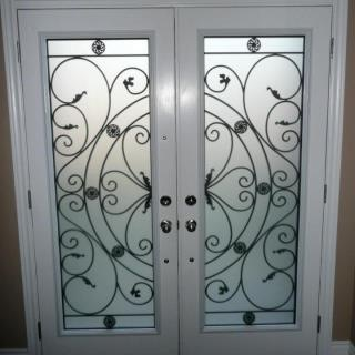 Campbellsford-Wrought-Iron-Glass-Door-Inserts-Orangeville-Ontario