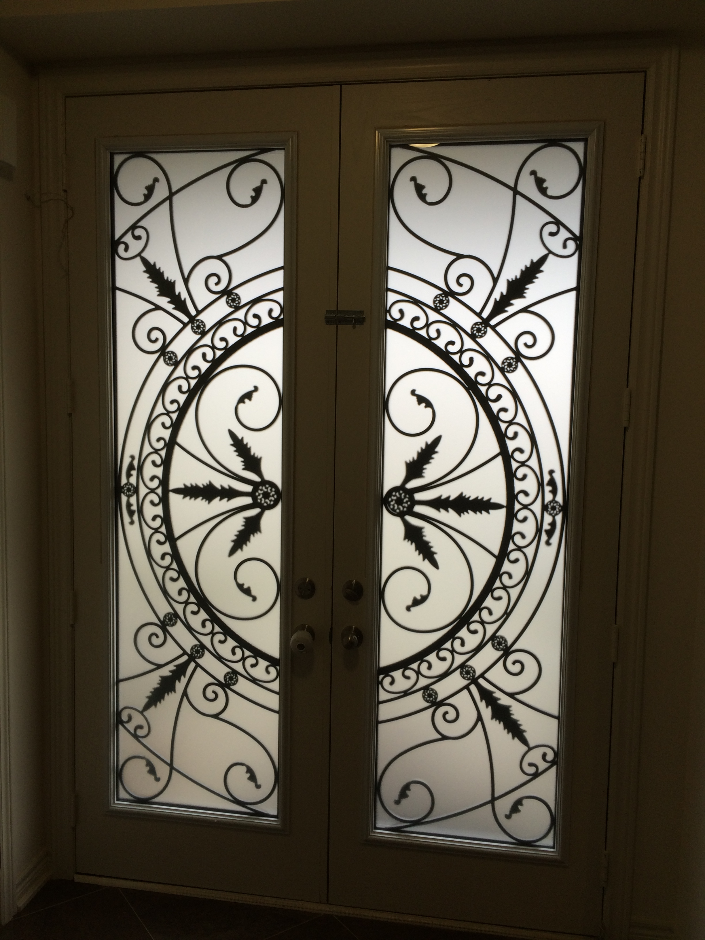 Chesterfield-wrought-Iron-Glass-Door-Inserts-Oshawa-Ontario