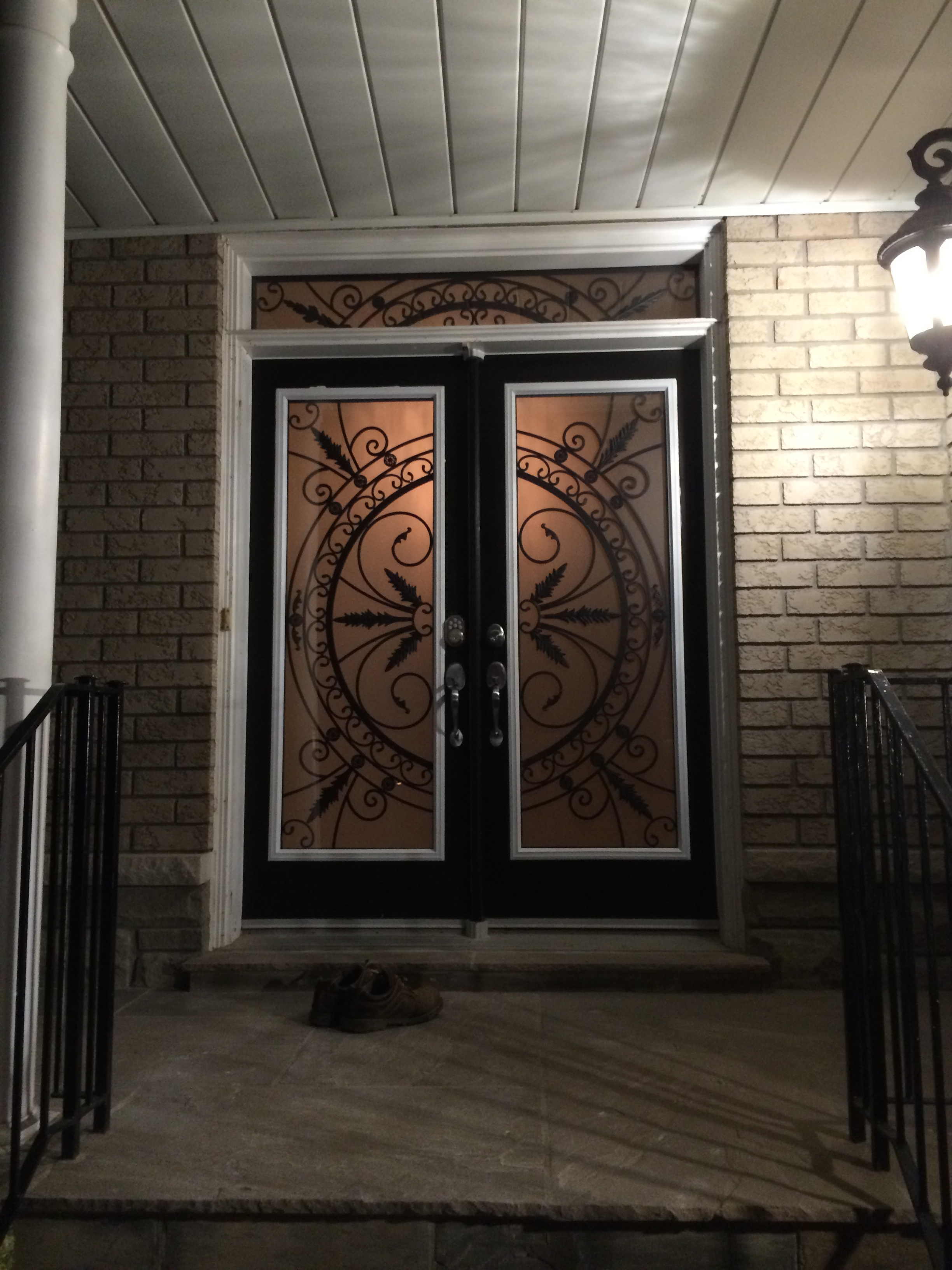 Chesterfield-wrought-Iron-Glass-Door-Inserts-Milton-Ontario