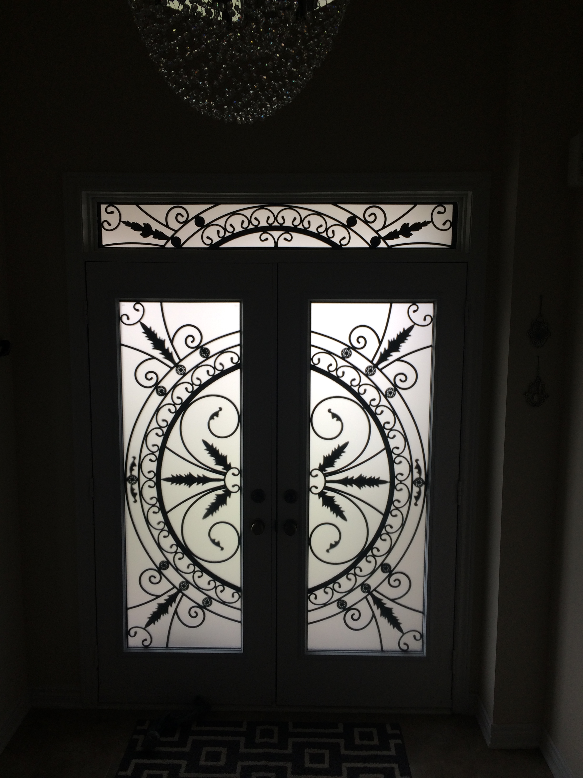 Chesterfield-wrought-Iron-Glass-Door-Inserts-Vaughan-Ontario