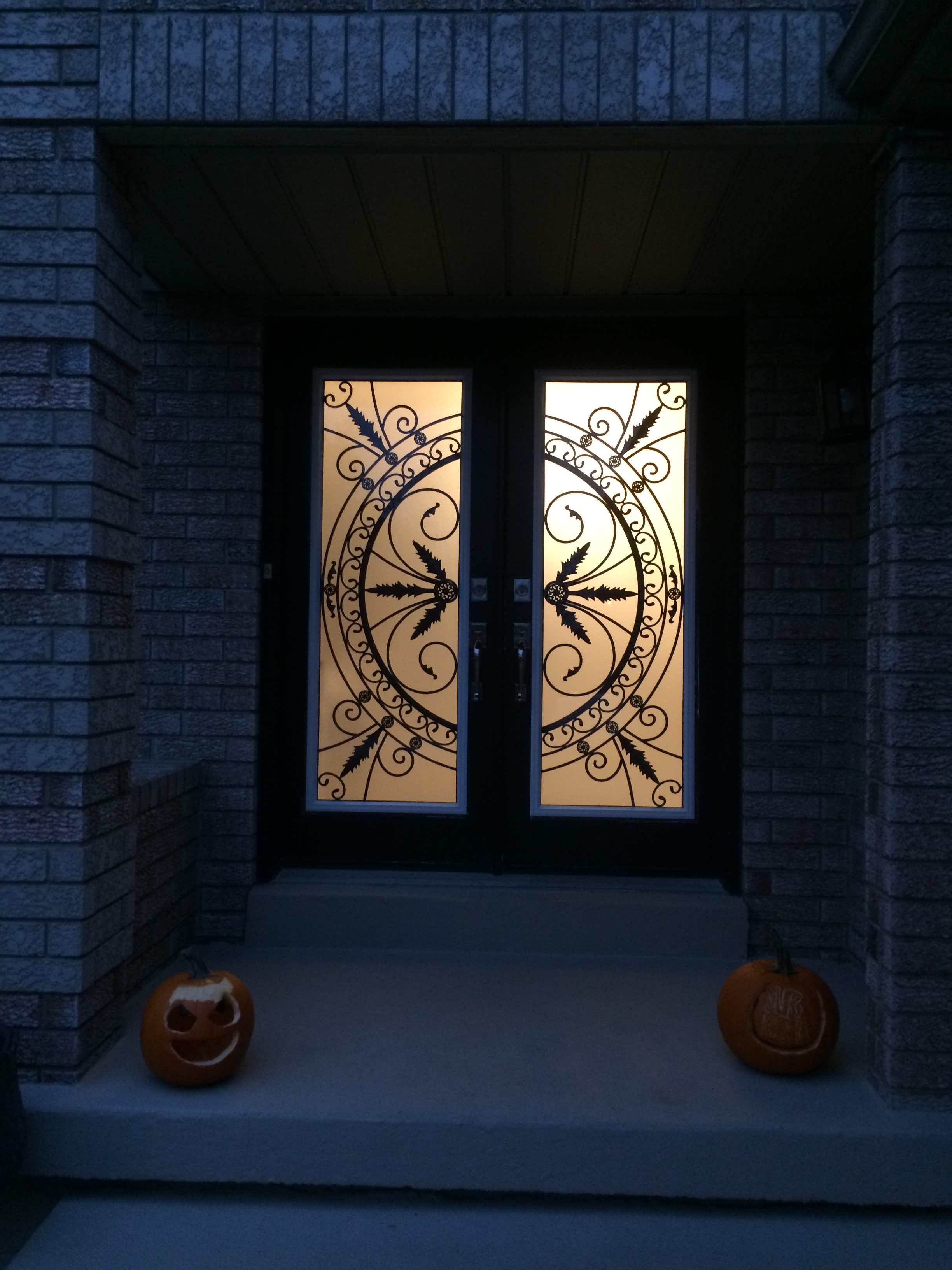 Chesterfield-wrought-Iron-Glass-Door-Inserts-Richmond-Hill-Ontario