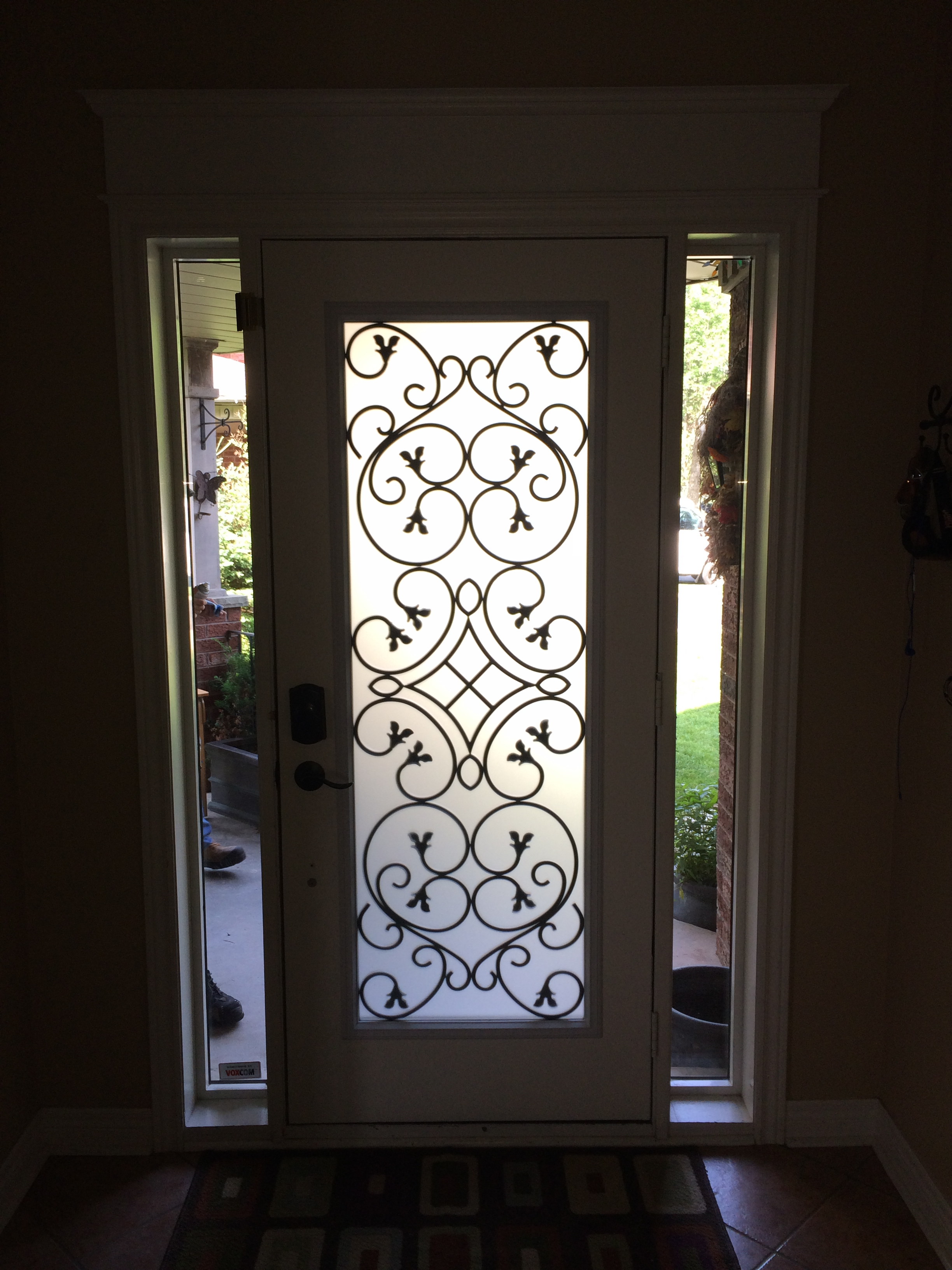 Dovershire-wrought-iron-glass-door-inserts-Vaughan-ontario