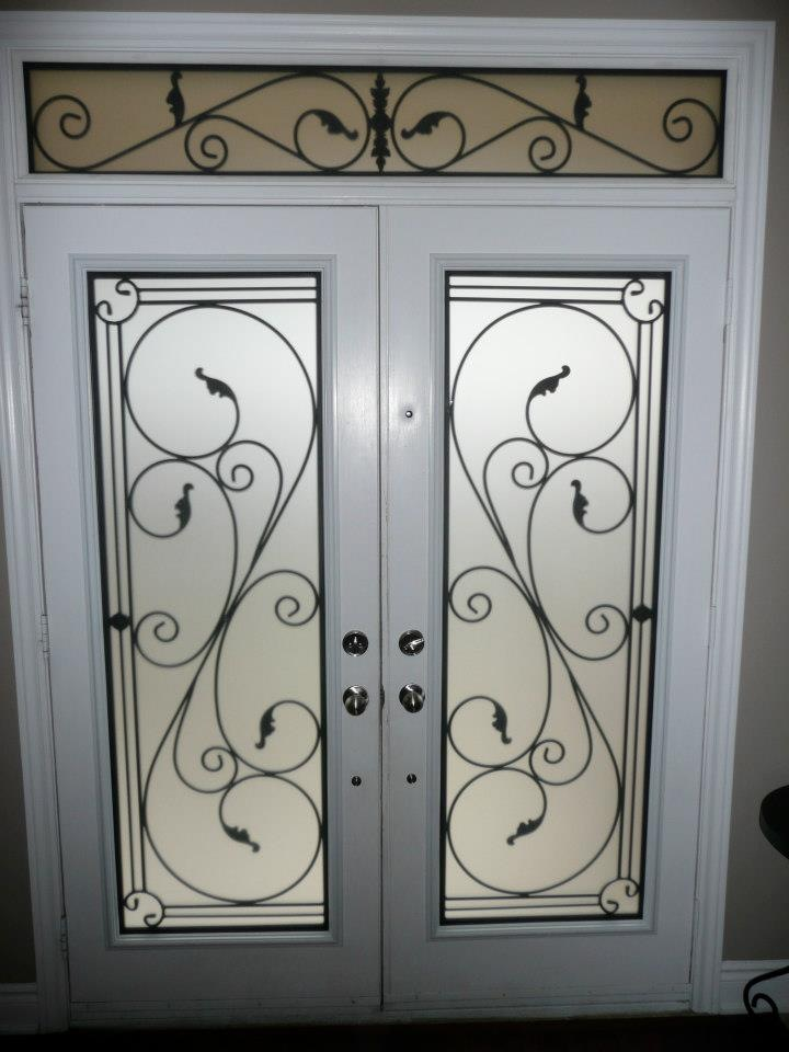 Flamingo-Bay-Wrought-Iron-Glass-Door-Inserts-Ajax-Ontario