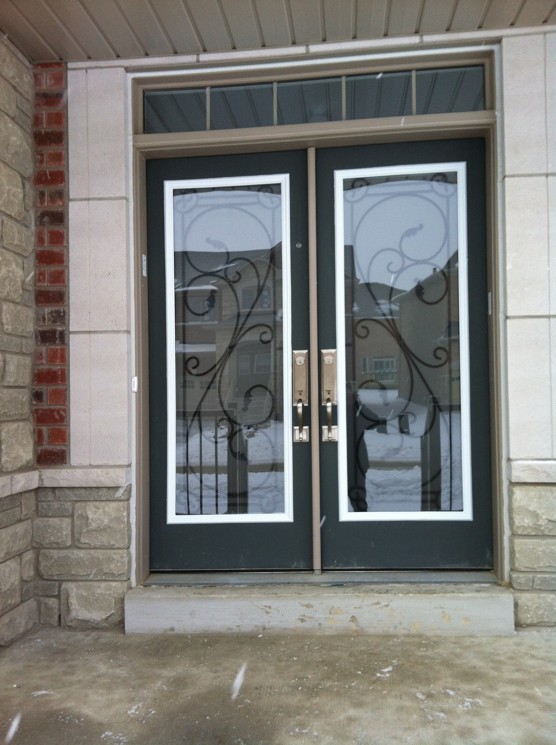 Flamingo-Bay-Wrought-Iron-Glass-Door-Inserts-Innisfil-ontario