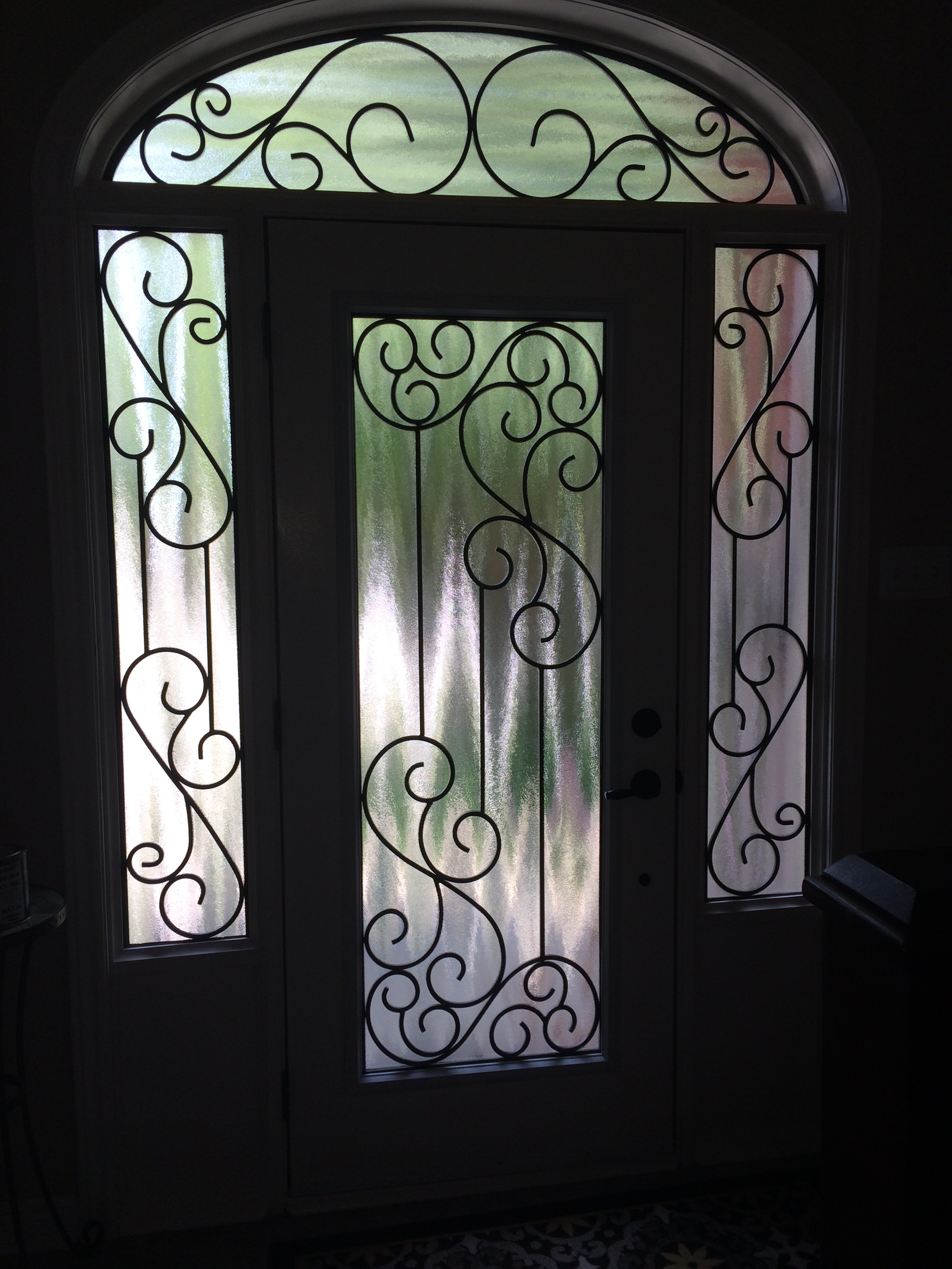 Gateway-Wrought-Iron-Glass-Door-Inserts-Mississauga-Ontario
